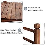 Giantex 5' Garden Bridge Wooden Stained Finish