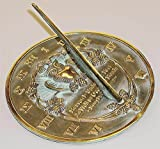 Rome 2329 Thoreau Sundial, Solid Brass with
