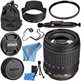 Nikon AF-S DX NIKKOR 18-105mm f/3.5-5.6G ED VR Lens 2179 + 67mm UV Filter + Lens Pen Cleaner + Fibercloth + Lens Capkeeper + Lens Cleaning Kit Bundle