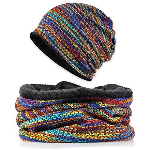 Fashion Neck Gaiter Headwear Fleece Neck Warmer - Unisex Ear Warmer Headband, Knit Scarf, Face Mask, Snow Ski Cap, Snow Mask (Snow Head)
