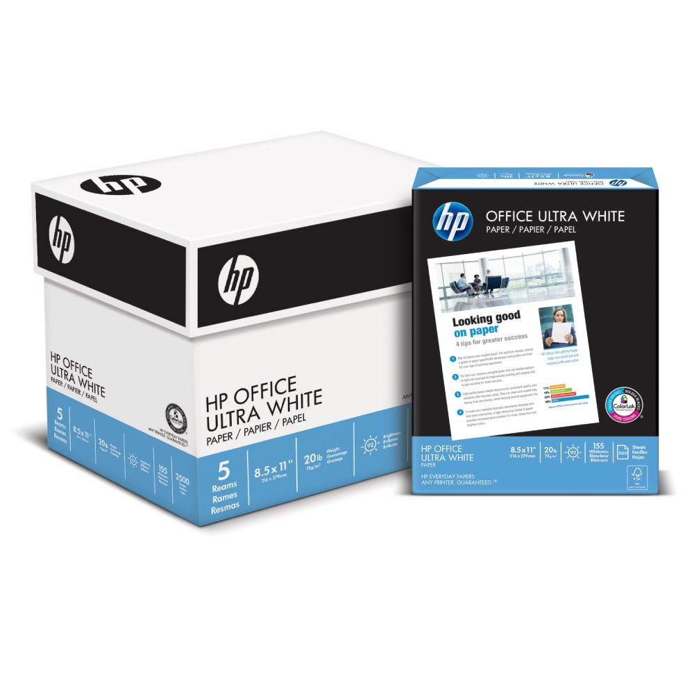 HP Printer Paper, Office Ultra White Copy Paper, 20lb, 11 x 17, Ledger, 92 Bright - 1 Pack / 500 Sheets (172000R) HP Everyday Papers