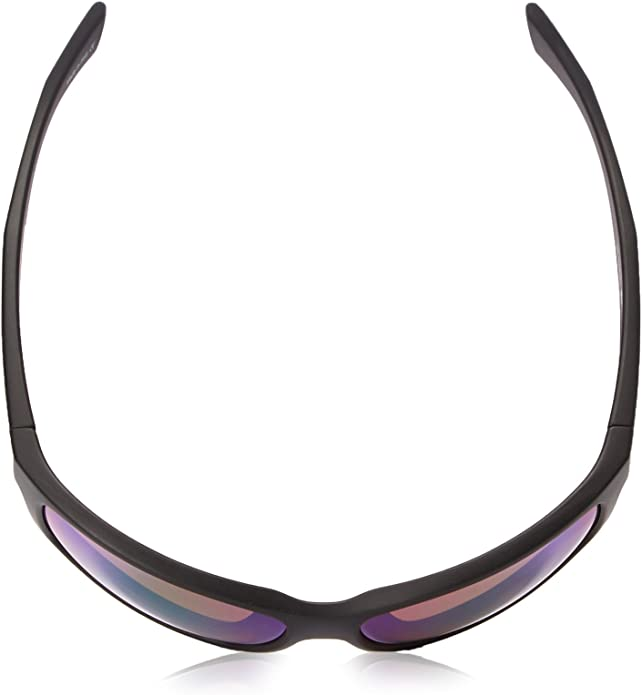 Matte White Frame Graphite Revo Mens Polarized Sunglasses Baseliner Wraparound Frame 61 mm