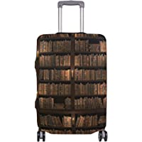 Mydaily Vintage Library Bookshelf Luggage Cover Fits 18-32 Inch Suitcase Spandex Travel Protector