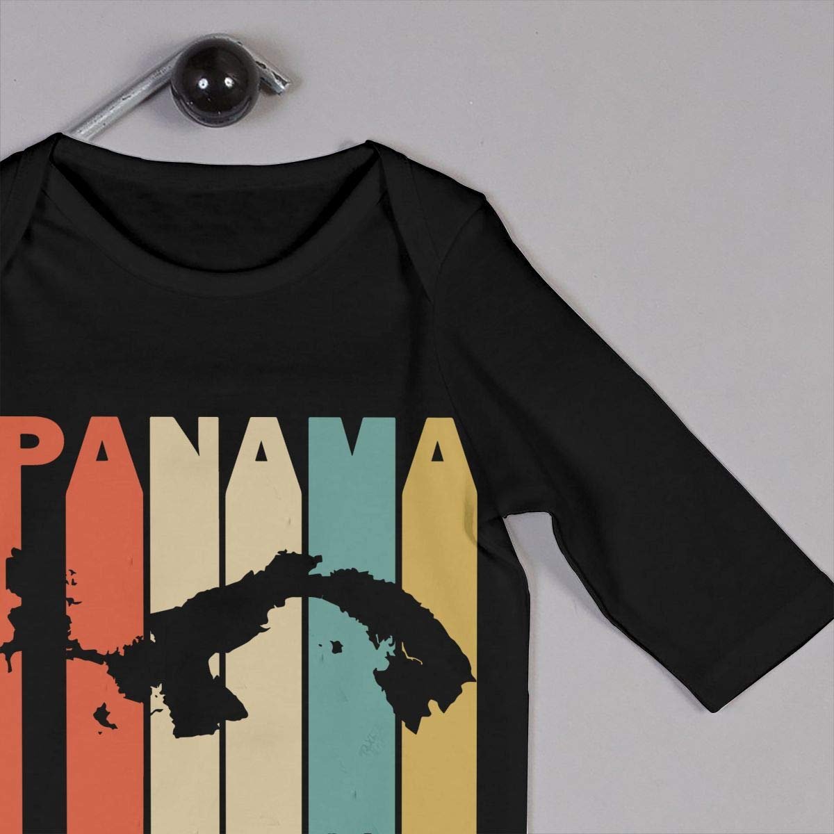 Long Sleeve Cotton Bodysuit for Baby Girls Boys Fashion Retro Style Panama Silhouette Onesies