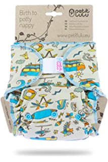 Hook /& Loop Made in Europe Aloha! Petit Lulu Bamboo Fitted Maxi-Night Diaper Reusable /& Washable