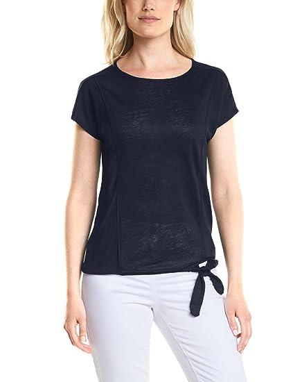 312121, T-Shirt Femme, Bleu (Deep Blue 10128), XSCecil