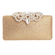 Fawziya Big Crown Clasp Handbag Bridal Bridesmaid Clutch Bag