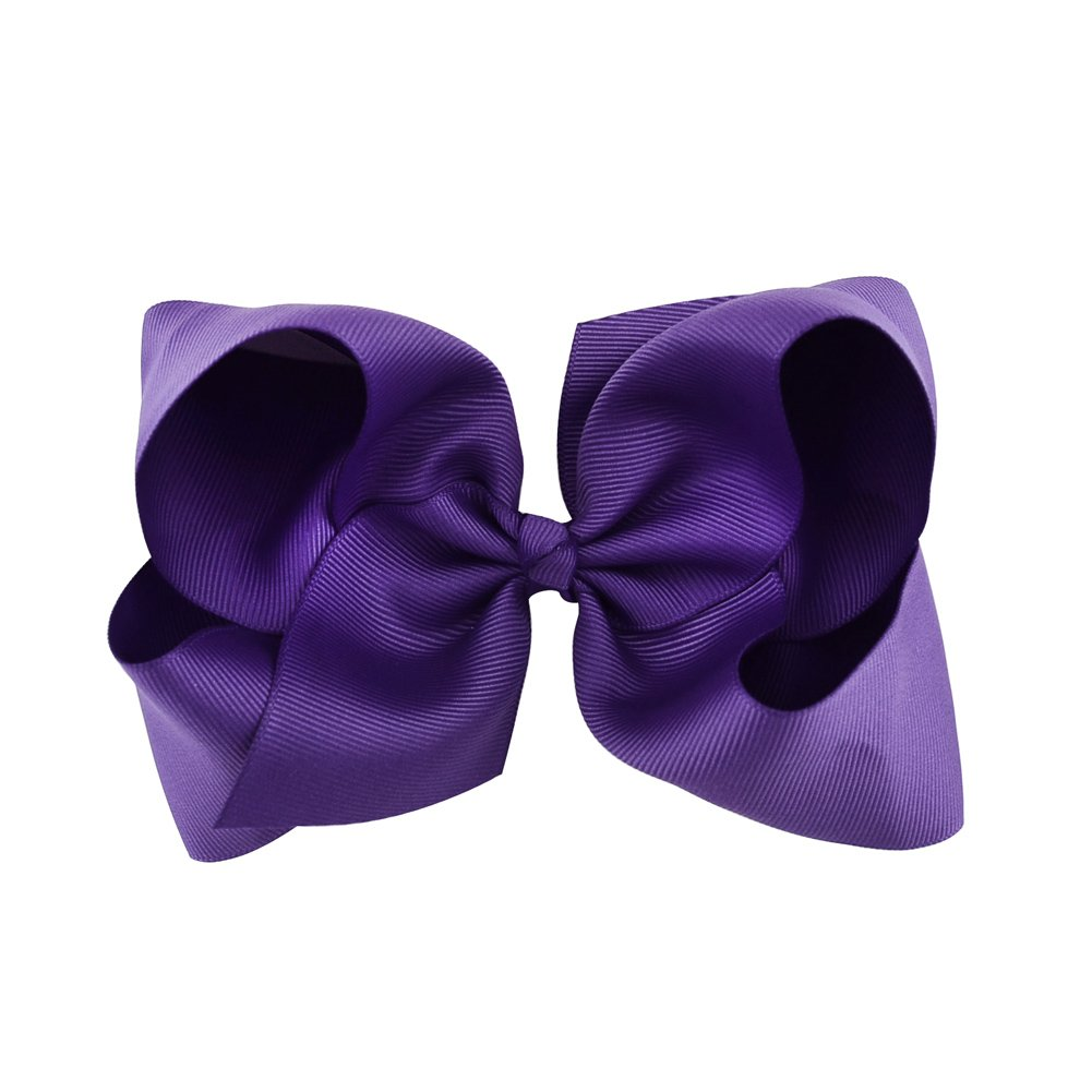 6 Inch Large Baby Hair Bows Barrettes Clip Holders Accessories For Toddler Girls 15 pcs by YHXX YLEN (Image #7)