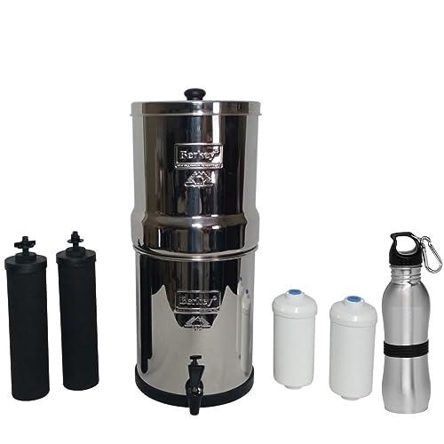 Travel Berkey Water Filter 1.5 Gallon System Bundle