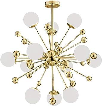 12 Lights Modern Sputnik Chandelier Mid Century Branch During Light Industrial G4 Ceiling Light Handblown Glass Hanging Light Fixture Golden 12 Light Amazon Co Uk Lighting
