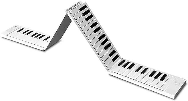 LYN Piano Electrónico Plegable Portátil, Teclado De Piano De ...