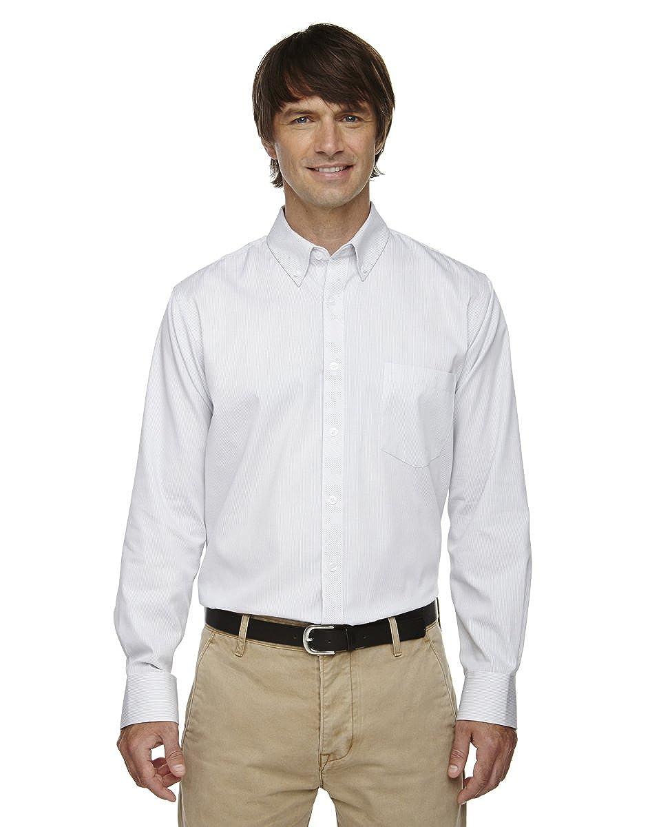 Ash City Men's Resistant Cotton Stripe Button Down Long Sleeve Shirt Ash City - North End 87041