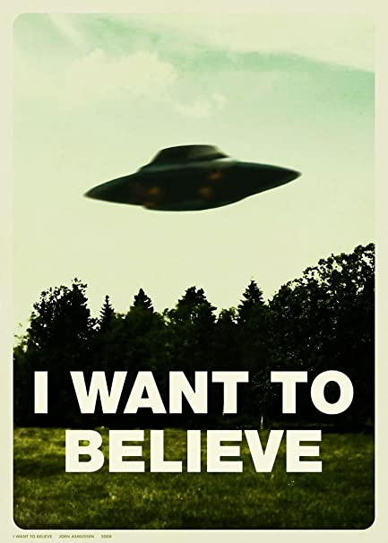 X Files I Want To Believe Customized 24x34 Inch Silk Print Poster WallPaper Great Gift