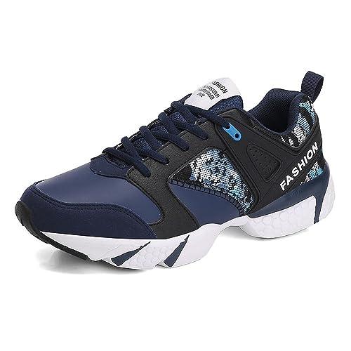 Otoño/Verano 2018 Marea para Hombre Juega Cool Flat Heel Lace Up Athletic Shoes hasta Talla 46: Amazon.es: Zapatos y complementos