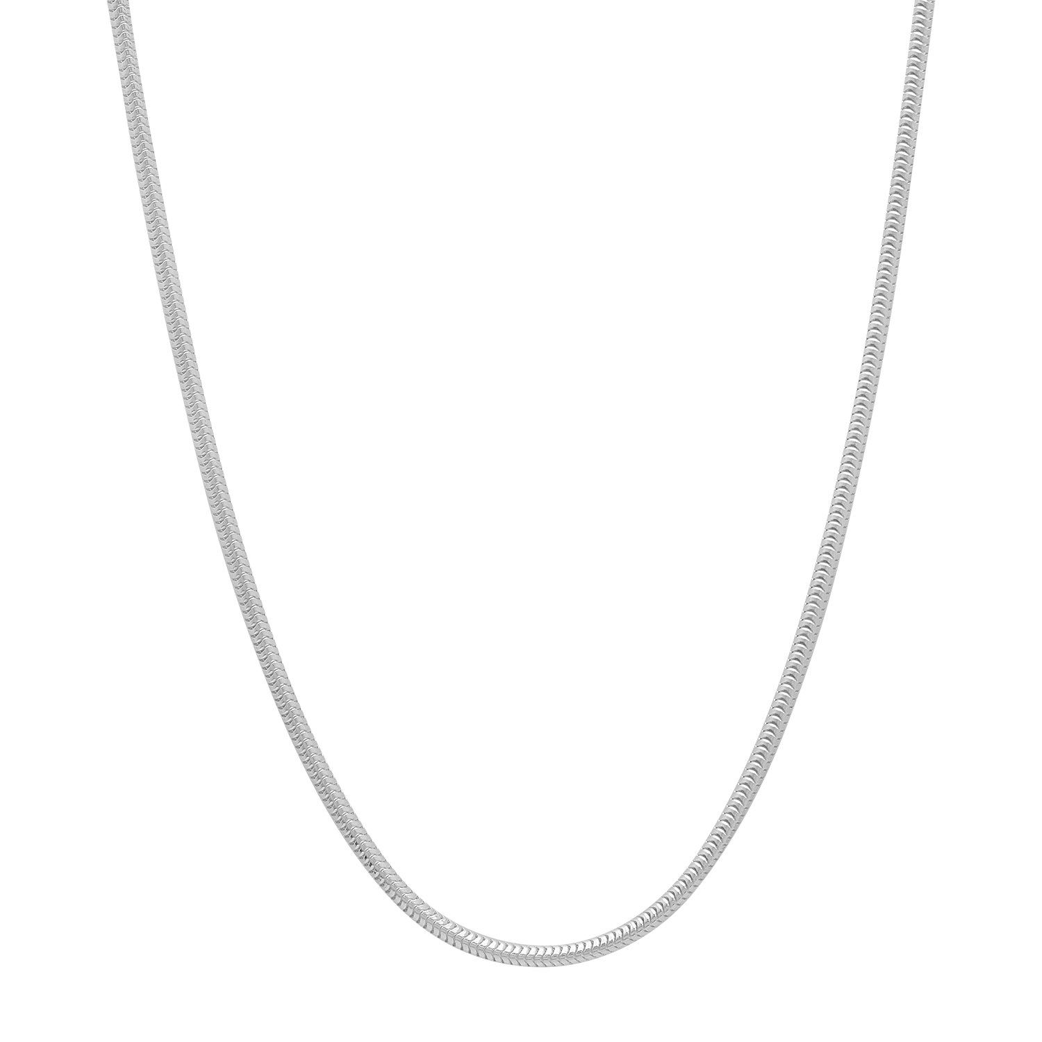 Solid 925 Sterling Silver 1.5mm Snake Chain Necklace Made in Italy
