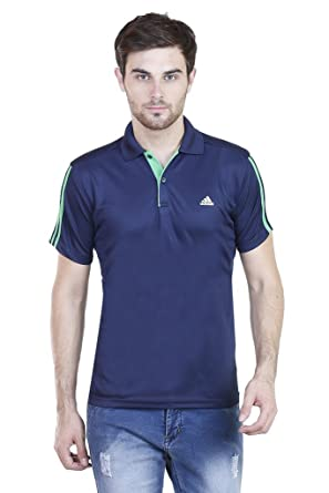 ef348c26 Adidas Men's Polyester Plain Polo Neck T-Shirt: Amazon.in: Clothing ...