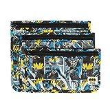 Bumkins DC Comics Clear Travel Bag-3 Pack, Batman