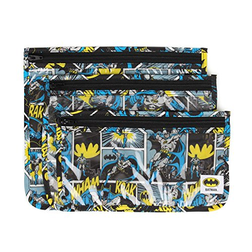 Bumkins DC Comics Clear Travel Bag 3 Pack, - Frame Dc Store
