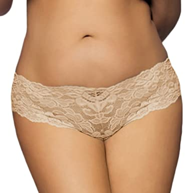 5ab3a9ead729 Eozy Women Underwear Lace Panty Mid-Waist Thong Panties: Amazon.co.uk:  Clothing