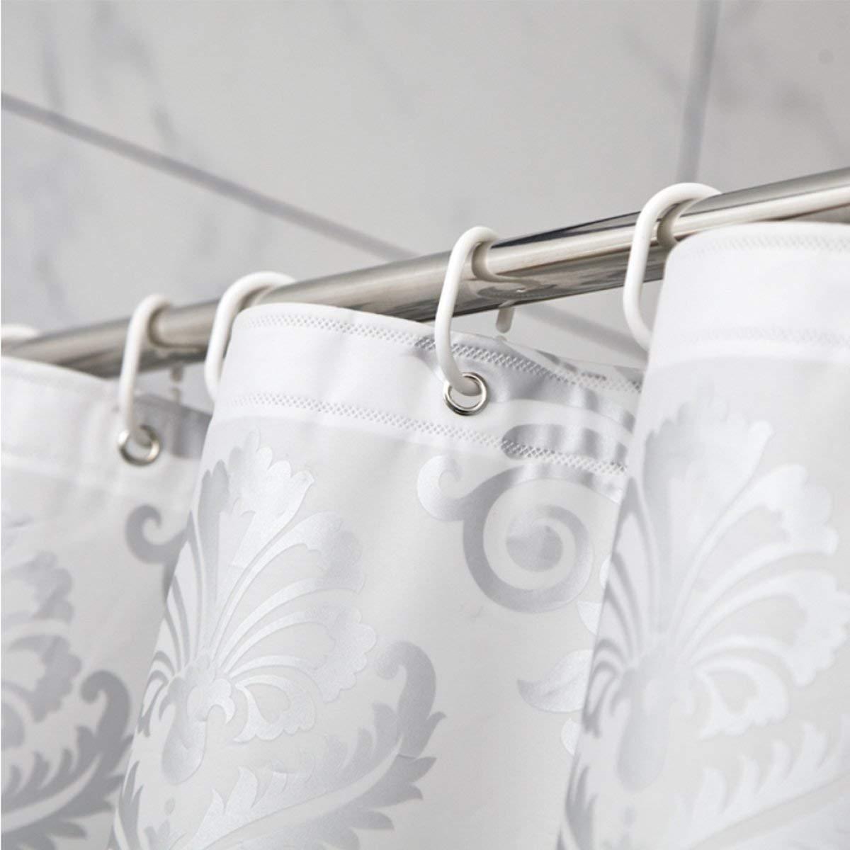 Der European Pastoral Style Foggy Translucent Matt Thickening EVA Bathroom Free Punching Shower Curtain Waterproof and Mildew Bathroom Accessories (Size : 180cm180cm) by Der (Image #2)