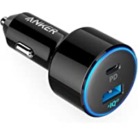 Anker® USB C Car Charger 49.5W,  PowerDrive Speed+ 2 Car Adapter with 30W PD Port for MacBook Pro/Air (2018), iPad Pro (2018), iPhone XS/Max/XR/X/8, and 19.5W Fast Charge Port for S9/S8 and More