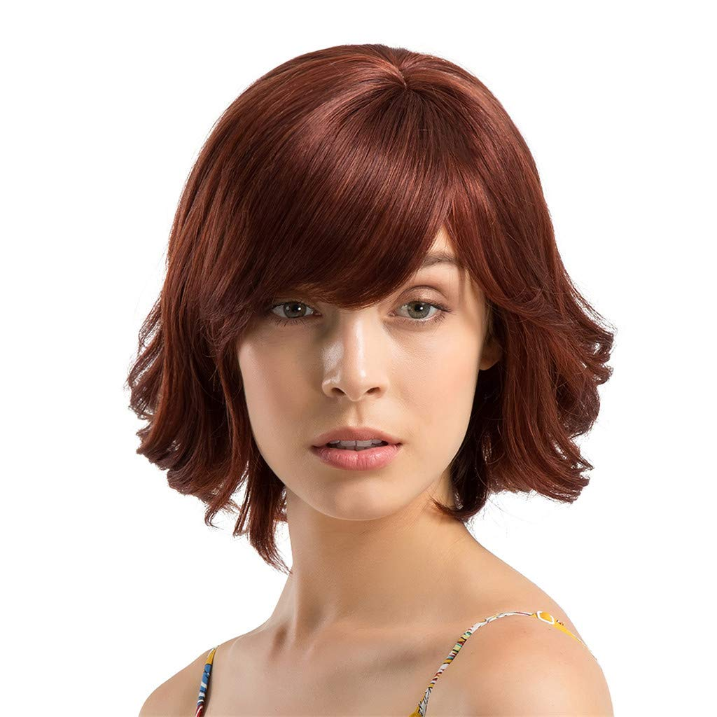 Wig,SUPPION Fashion Women 30 cm Short Curly Hair Hairstyle Human Hair Wigs Beautiful and Natural - Cosplay/Party/Costume/Carnival/Masquerade (A) by SUPPION (Image #1)