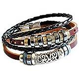Jirong Réglable fraîche Bracelet manchette en cuir unisexe de bracelet de manchette de bijoux de bracelet de bracelet de bracelet de Mens Sl2583