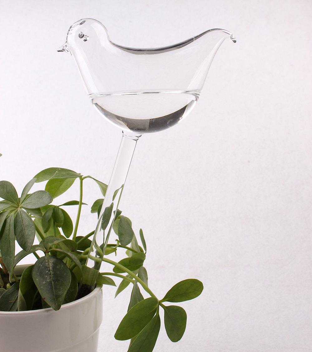 4 pack Dulinlan Plant Nurse Self Watering Automatic Hand-blown Bird Shape Glass Watering Bulbs Mini Decorative by Dulinlan