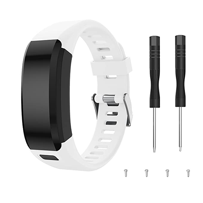 TOPsic Garmin Vivosmart HR Correa, Accesorios Banda de Reloj de Silicona Suave Ajustable Reemplazo diseñado para Garmin Vivosmart HR Smart Sport Reloj (no ...