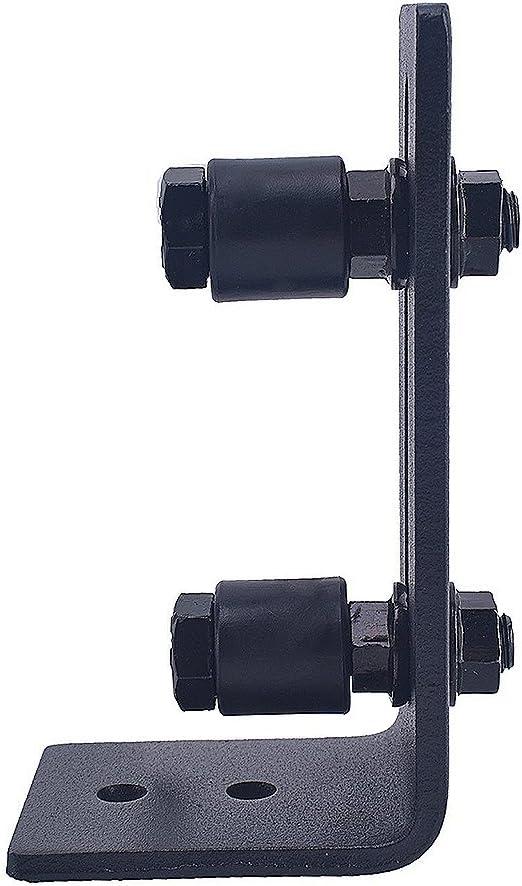 ajustable Rodillo gu/ía de piso para puerta de granero soporte inferior de gu/ías se coloca plano en el suelo kit de montaje en pared para puertas correderas tornillos gu/ía de pared