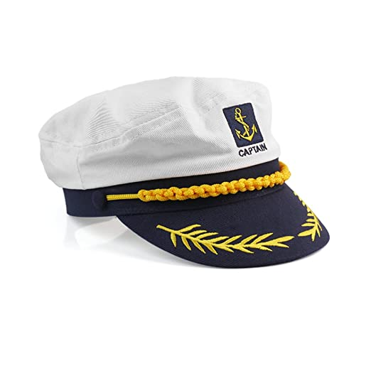 Refaxi Cotton Yacht Kipper Sailor Ship Boat Marine Captain Hat Cap ... c57f4cd1796