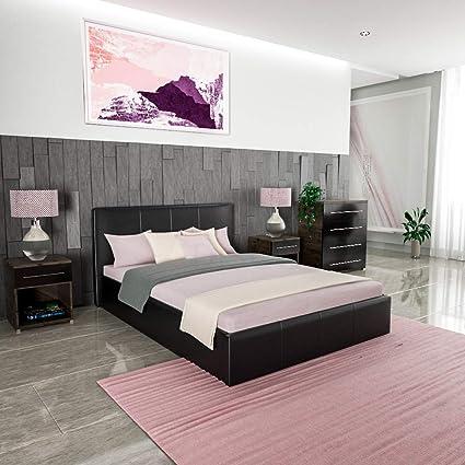 Vida Designs Lisbon Ottoman Bed Frame Upholstered
