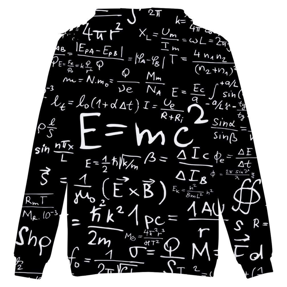 JULE.KEQ Harajuku Pullover Sweatshirt Hip Hop Funy Couples 3D Hoodies Physics Science