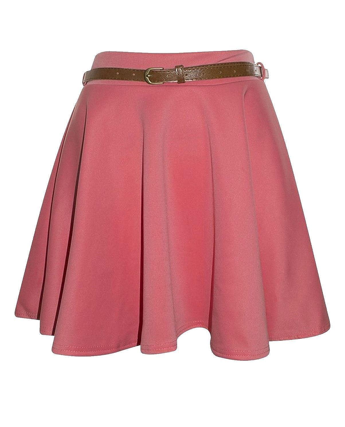 Sheepriver Femmes Floral princesse jupe courte pliss¨¦e filles Floral Mini-jupe en mousseline de soie avec ceinture Paramount