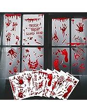 9 vellen Halloween-stickers met bloedspetters, voor ramen, Halloween-decoratie, voor spookhuizen, badkamer, muur (20 x 30 cm)