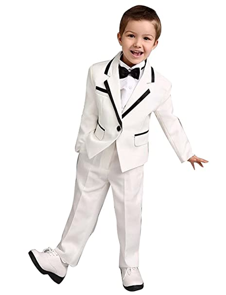 Amazon.com: Conjunto de 3 piezas de trajes blancos para ...