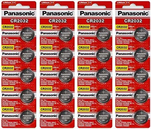 Panasonic CR2032 3 Volt Lithium Coin Battery (20 Batteries)