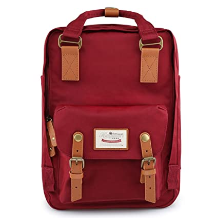 3c7a9b58b88d Image Unavailable. Image not available for. Color  Himawari Backpack Waterproof  School Backpack 17.7 quot  College Vintage Travel Bag ...