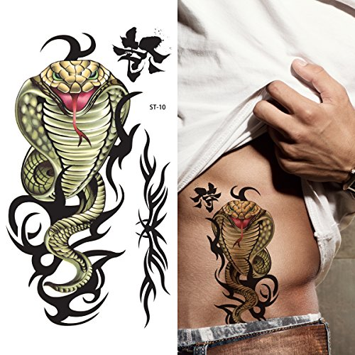 Supperb Temporary Tattoos - Tribal Snake
