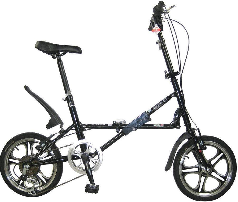 RVTYR Bicicletas Plegables-Plegado del Coche de 16 Pulgadas V Brake Velocidad Adultos de la Bicicleta Infantil Estudiante de Bicicletas Bicicletas, Negro moma Bikes