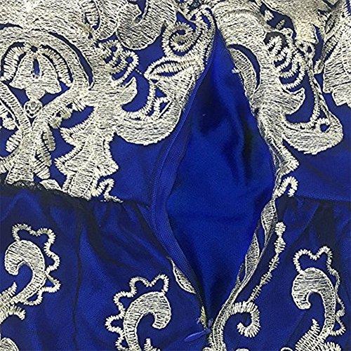Benegreat Mancherons Dentelle Florale Vintage Femmes Cocktail Homcoming Robe De Swing Parti Bleu