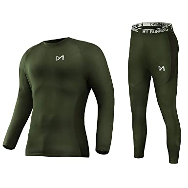 a05f8cd82a5aa4 Men's Thermal Underwear Set, Sport Long Johns Base Layer for Male, Winter  Gear Compression
