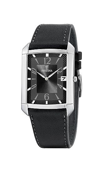 FESTINA F6748/3 - Reloj de Caballero de Cuarzo, Correa de Piel Color Negro: Amazon.es: Relojes