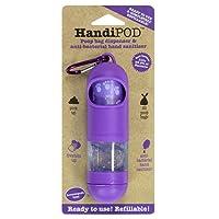 HandiPOD Poop Bag Dispenser with Lemon Scented Hand Sanitiser, Purple