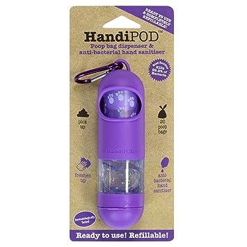 HandiPOD Dispensador de Bolsas higiénicas con desinfectante de Manos con Aroma de limón, Color Morado: Amazon.es: Productos para mascotas
