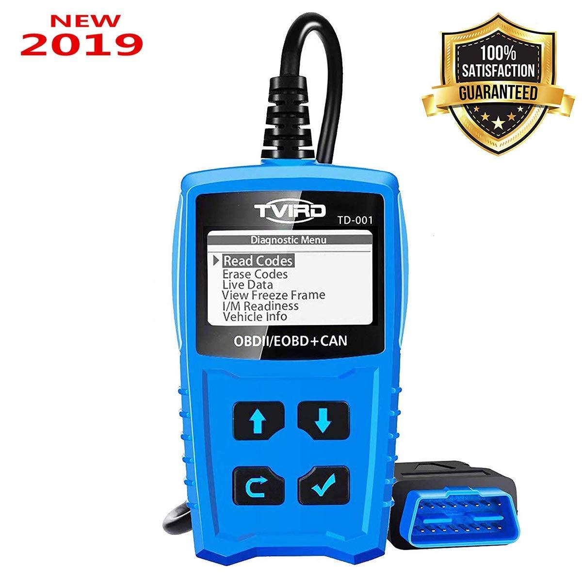 Tvird OBD2 Auto Diagnóstico,OBD II Escáner Motor Detector de Fallas Eliminar Códigos Error,Adecuado para Coche con Modo OBD2 / EOBD/Can e Interfaz ...