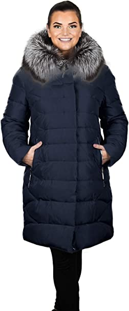 Grimada 7M56 Damen Winter Jacke Mantel in Daunen Optik