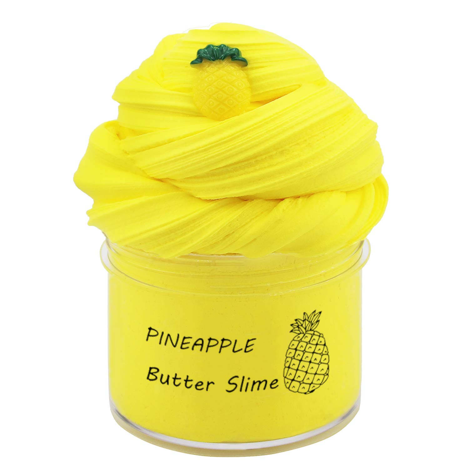 Upgrade Scent Pineapple Slime with Charms, Butter Slime,Super Soft and Non-Sticky(7oz 200ML)