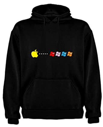 The Fan Tee Sudadera de Hombre Divertidas Apple Windows Android: Amazon.es: Ropa y accesorios