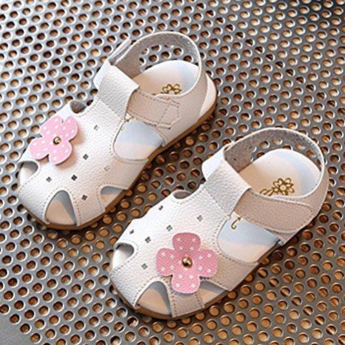 Prevently Kinder Kinder Sandalen Blume Mode Turnschuhe Kind Mädchen Sommer Blume Casual Sandalen Weiß